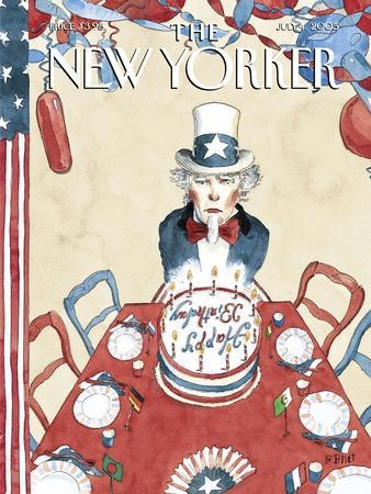 The New Yorker Cover - July 4, 2005-Barry Blitt-Stretched Canvas Print