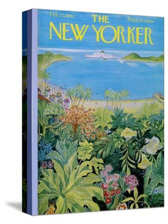 The New Yorker Cover - February 17, 1962-Ilonka Karasz-Stretched Canvas Print