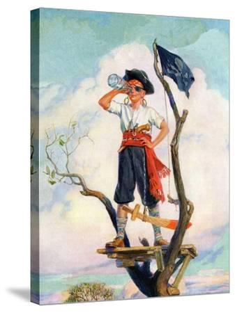 """""""Playing Pirate,""""March 1, 1929-William Meade Prince-Stretched Canvas Print"""