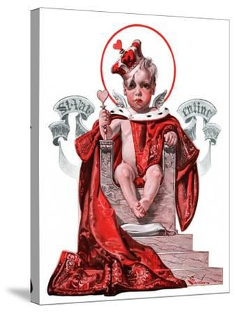 """Baby King Valentine,""February 14, 1925-Elbert Mcgran Jackson-Stretched Canvas Print"
