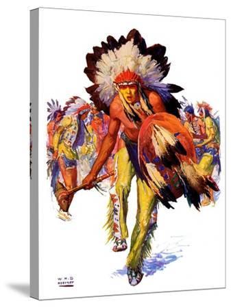 """""""Dancing Warrior,""""April 4, 1936-William Henry Dethlef Koerner-Stretched Canvas Print"""