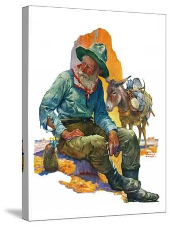 """""""Old Miner,""""April 6, 1929-Edgar Franklin Wittmack-Stretched Canvas Print"""