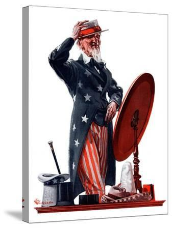 """New Hat for Uncle Sam,""May 12, 1923-Elbert Mcgran Jackson-Stretched Canvas Print"