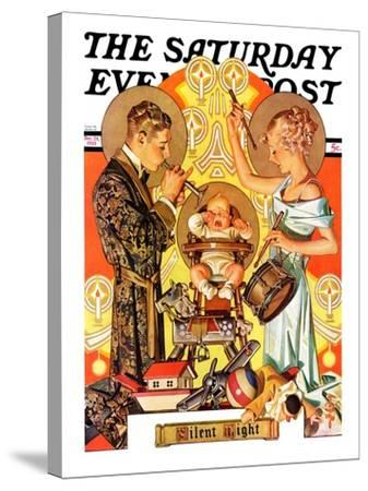 """Silent Night,"" Saturday Evening Post Cover, December 28, 1935-Joseph Christian Leyendecker-Stretched Canvas Print"