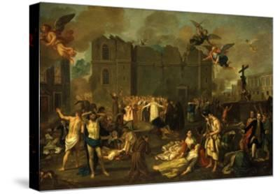 Earthquake in Lisbon, Portugal, 1755-Jao A. Stroberle-Stretched Canvas Print