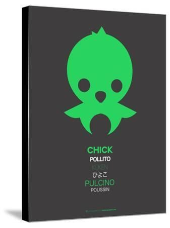Green Chick Multilingual Poster-NaxArt-Stretched Canvas Print