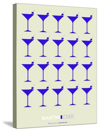 Martini Lover Blue-NaxArt-Stretched Canvas Print