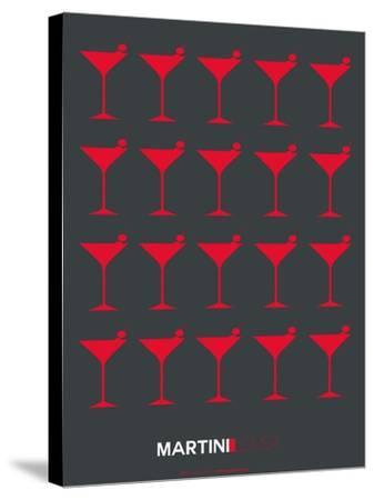 Martini Lover Red-NaxArt-Stretched Canvas Print