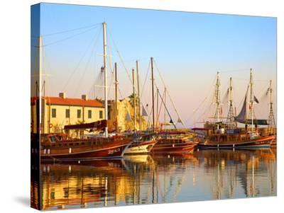 Kyrenia Harbour, Kyrenia, North Cyprus-Neil Farrin-Stretched Canvas Print