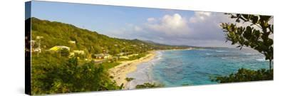 Elevated View over Long Bay at Sunrise, Portland Parish, Jamaica, Caribbean-Doug Pearson-Stretched Canvas Print
