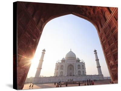 India, Uttar Pradesh, Agra, Taj Mahal (UNESCO Site)-Michele Falzone-Stretched Canvas Print