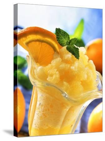 Orange Granita--Stretched Canvas Print