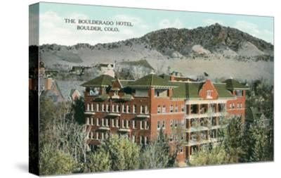 Boulderado Hotel, Boulder, Colorado--Stretched Canvas Print