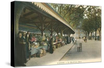 Flower Market, Cannes, France--Stretched Canvas Print