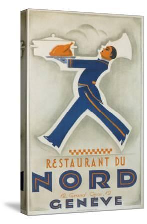 Restaurant Du Nord. Geneve, Switzerland--Stretched Canvas Print