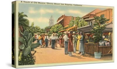 Scene on Olvera Street, Los Angeles, California--Stretched Canvas Print