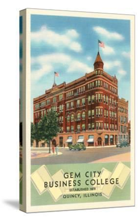 Gem City Business College, Quincy, Illinois--Stretched Canvas Print