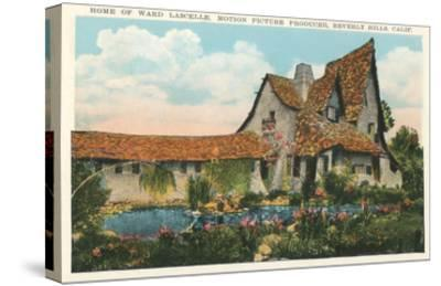 Home of Ward Lascelle, Movie Producer, Beverly Hills, California--Stretched Canvas Print