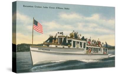 Excursion Cruiser, Lake Coeur d'Alene, Idaho--Stretched Canvas Print