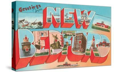 Greetings from New Bedford, Mass.--Stretched Canvas Print