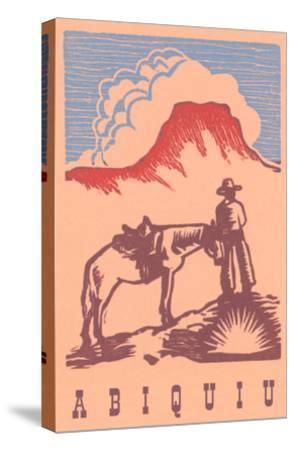 Black Mesa, Abiquiu, New Mexico--Stretched Canvas Print