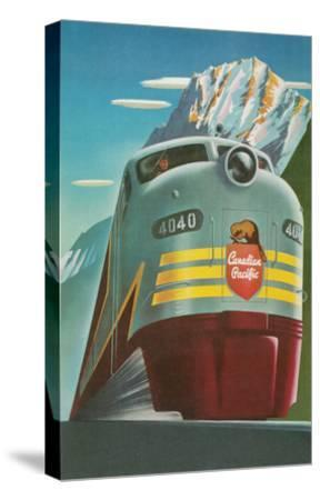 Travel Poster for Canadian Railways--Stretched Canvas Print
