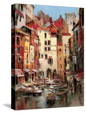 Mediterranean Seaside Holiday 1-Brent Heighton-Stretched Canvas Print