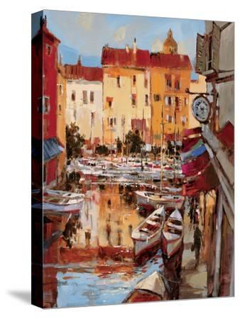 Mediterranean Seaside Holiday 2-Brent Heighton-Stretched Canvas Print