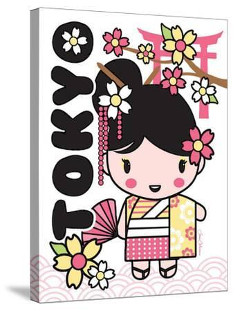 Tokyo Cutie-Joan Coleman-Stretched Canvas Print