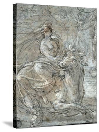The Abduction of Europa-Prospero Fontana-Stretched Canvas Print