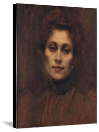 Portrait of a Lady, 1894-Eugene Carriere-Stretched Canvas Print