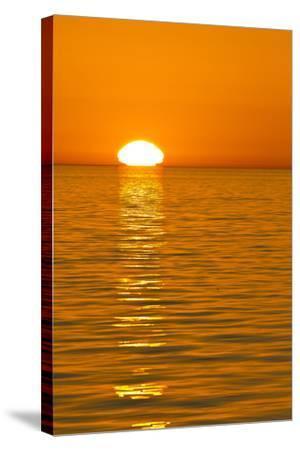 Sunrise, Gulf of California (Sea of Cortez), Baja California, Mexico, North America-Michael Nolan-Stretched Canvas Print