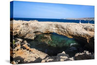 Natural Bridge, Aruba, ABC Islands, Netherland Antilles, Caribbean, Central America-Michael Runkel-Stretched Canvas Print