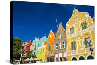 The Colourful Dutch Houses at Sint Annabaai, UNESCO Site, Curacao, ABC Island, Netherlands Antilles-Michael Runkel-Stretched Canvas Print