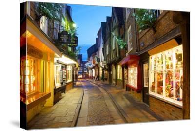 The Shambles at Christmas, York, Yorkshire, England, United Kingdom, Europe-Frank Fell-Stretched Canvas Print