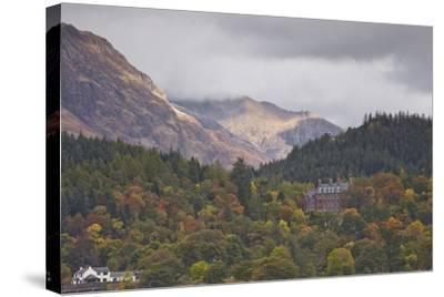 Houses Dotted on the Mountain Side in Glencoe, Highlands, Scotland, United Kingdom, Europe-Julian Elliott-Stretched Canvas Print