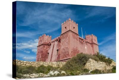 St. Agatha Tower (Red Keep) (Red Tower), Malta, Europe-Michael Runkel-Stretched Canvas Print