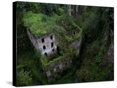 Sorrento, Italy: the Old Mill Located Near the Heart of Sorrento.-Ian Shive-Stretched Canvas Print