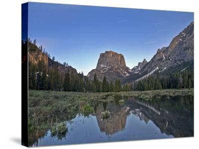 Stars over Square Top Mountain-Andrew R. Slaton-Stretched Canvas Print