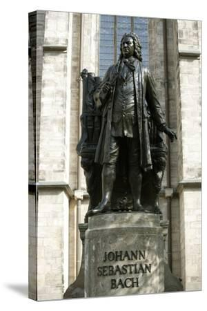 Statue of J. S. Bach on Grounds of St. Thomas Church, Leipzig, Germany-Dave Bartruff-Stretched Canvas Print