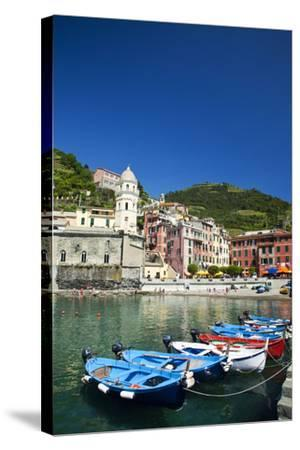 City and Church of Santa Margherita d'Antiochia of Vernazza, Italy-Terry Eggers-Stretched Canvas Print