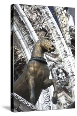 Horse Statue on San Marco, Venice, Italy-Terry Eggers-Stretched Canvas Print
