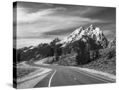 Teton Park Road and Teton Range, Grand Teton National Park, Wyoming, USA-Adam Jones-Stretched Canvas Print