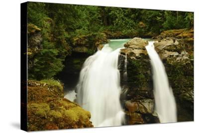 Hooksack Waterfalls, Mount Baker-Snoqualmie National Forest, Washington, USA-Michel Hersen-Stretched Canvas Print