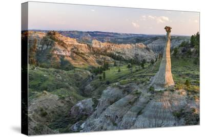 Badlands Rock Formation, Missouri River Breaks National Monument, Montana, USA-Chuck Haney-Stretched Canvas Print