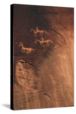 Petroglyph, Canyon De Chelly National Monument, Arizona, USA-Michel Hersen-Stretched Canvas Print