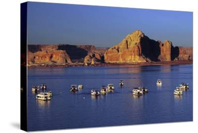 Wahweap Marina, Glen Canyon National Recreation Area, Lake Powell, Page, Arizona-Michel Hersen-Stretched Canvas Print