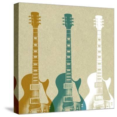 Guitars 3-Stella Bradley-Stretched Canvas Print
