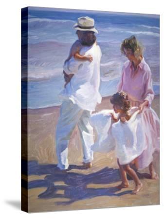 Pacific Walk-John Asaro-Stretched Canvas Print