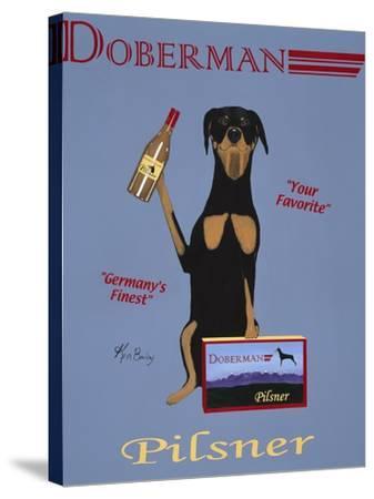 Doberman Pilsner-Ken Bailey-Stretched Canvas Print